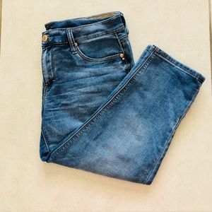 Seven7 Cropped Stretch Jeans Girlfriend Size 12